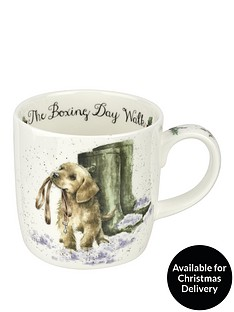 royal-worcester-wrendale-boxing-day-walk-mug