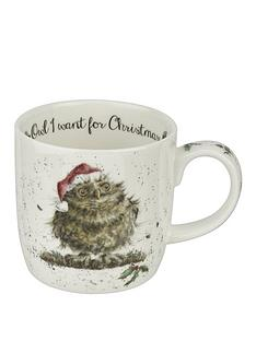 royal-worcester-wrendale-owl-i-want-for-christmas-mug