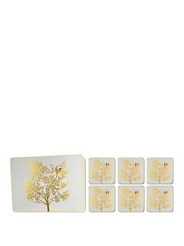 portmeirion-portmeirion-sara-miller-etched-leaves-placemat-and-coaster-set