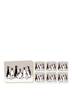 portmeirion-sara-miller-penguin-placemats-and-coasters-ndash-10-piece-set