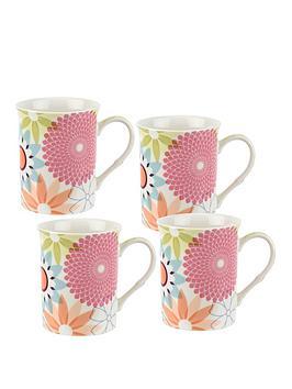 Portmeirion Portmeirion Crazy Daisy Set Of 4 Mugs Picture