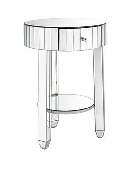 Very Phoebe Round Mirrored Bedside Table Picture