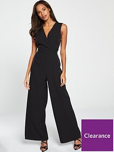 v-by-very-wrap-button-side-jumpsuit-black