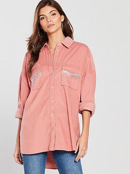river-island-river-island-embellished-pocket-cord-shirt-pink