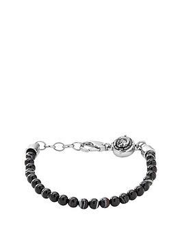diesel-diesel-semi-precious-mens-beaded-bracelet-in-brownblack
