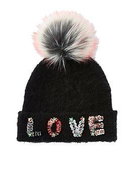 river-island-girls-black-love-pomp-pom-beanie-hat