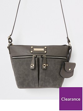 river-island-river-island-pocket-front-cross-body-bag-grey