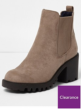 river-island-river-island-wide-fit-chunky-sole-ankle-boots-beige