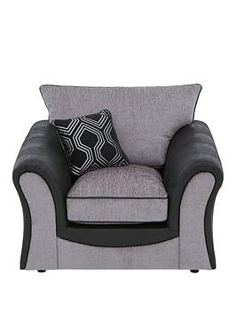 Very Milan Faux Leather And Fabric Armchair Picture
