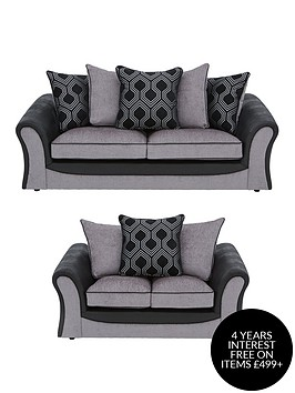 milan-fauxnbspleather-and-fabric-3-seater-2-seaternbspscatter-back-sofa-set-buy-and-save