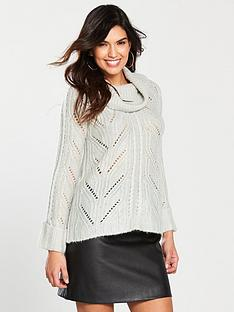 oasis-oasis-brushed-cable-cowl-knitted-jumper-grey