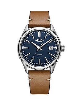 rotary-rotary-oxford-blue-date-dial-brown-leather-strap-mens-watch
