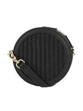 accessorize-woven-circle-bag-black