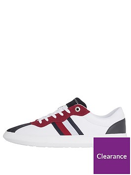 e7f8f6a7c42f Tommy Hilfiger Essential Corporate Cupsole Trainers - White ...