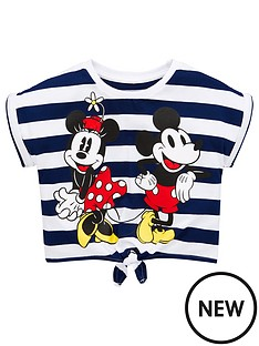 minnie-mouse-girls-stripe-tie-waist-t-shirt-navywhite