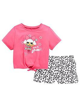 lol-surprise-girls-shorty-pyjamas-pink