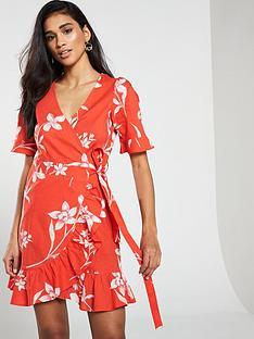 v-by-very-cotton-printed-wrap-dress
