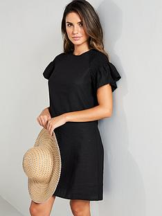 v-by-very-linen-ruched-sleeve-tunic