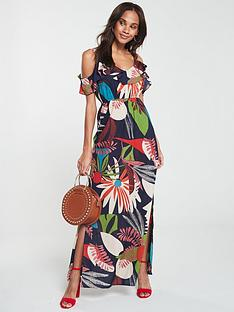 v-by-very-cotton-cold-shoulder-maxi-dress-print