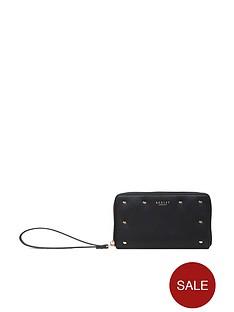 radley-arlington-street-stud-large-phone-wristlet-purse-black