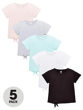v-by-very-girls-5-packnbspjersey-tienbsptops-multi