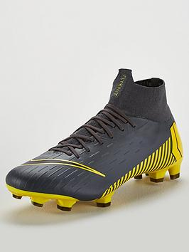 promo code 14ed6 a6bce Mercurial Superfly VI Pro Firm Ground Football Boots - Grey/Yellow