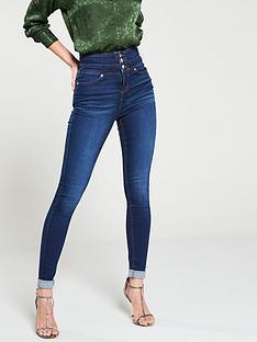 76f7a50db3 V by Very Macy High Waisted Skinny Jeans - Dark Wash