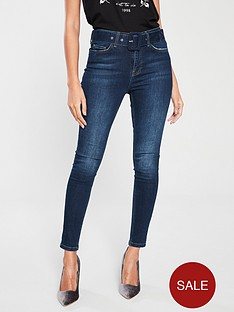 v-by-very-ella-high-waisted-buckle-belt-skinny-jean-dark-wash