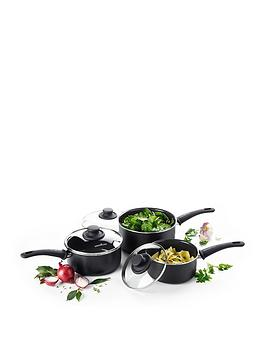 Greenchef Greenchef Soft Grip 3-Piece Saucepan Set Picture