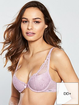 9aa3476627525 Boux Avenue Tori Lace Plunge Bra - Pink | littlewoods.com