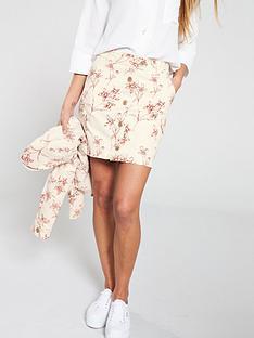 v-by-very-floral-print-utility-skirt-ecru