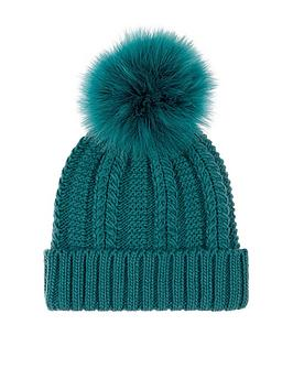 accessorize-luxe-pom-beanie-hat-teal