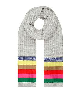 accessorize-rainbow-stripe-scarf