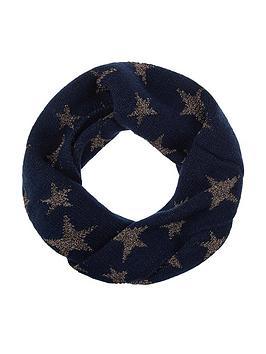 accessorize-sparkle-star-jacquard-snood-navy