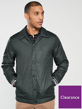 tommy-hilfiger-logo-tape-coach-jacket-black