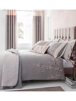 Catherine Lansfield Catherine Lansfield Embroidered Blossom Duvet Cover Set Picture