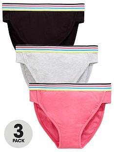8ad03a7b6 V by Very Girls 3 Pack Sport Briefs - Multi