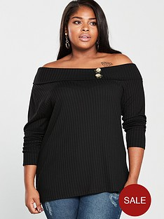 v-by-very-curve-rib-off-the-shoulder-top