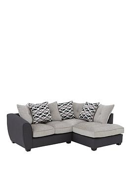 Very Juno Fabric Compact Right Hand Corner Chaise Scatter Back Sofa Picture