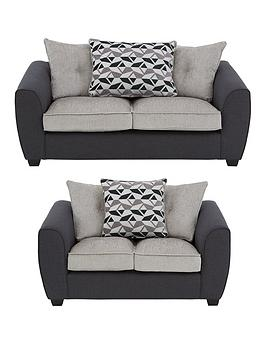 Very Juno Fabric Compact Scatter Back 3 Seater + 2 Seater Sofa Set (Buy  ... Picture