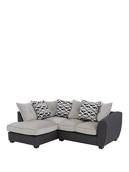 Very Juno Fabric Compact Scatter Back Left Hand Seater Corner Chaise Sofa Picture