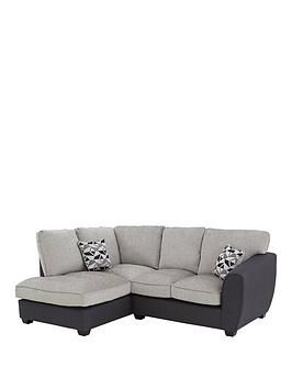 Very Juno Fabric Compact Standard Left Hand Corner Chaise Sofa Picture