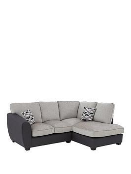 Very Juno Fabric Compact Standard Right Hand Corner Chaise Sofa Picture