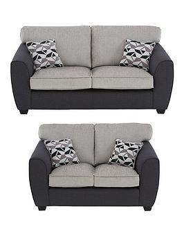 Very Juno Fabric Compact Standard Back 3 Seater + 2 Seater Sofa Set (Buy  ... Picture