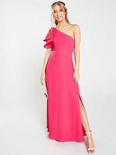 v-by-very-one-shoulder-soft-maxi-dress-pink