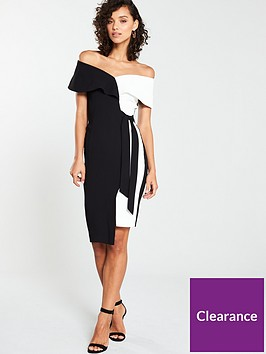 v-by-very-mono-tie-pencil-dress-monochrome