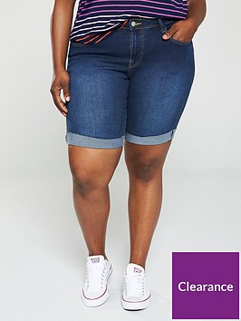 v-by-very-curve-longlinenbsprolled-up-denim-shorts-dark-wash