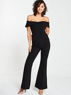 v-by-very-button-bardot-bootcut-jumpsuit-black