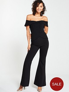v-by-very-button-bardot-bootcut-jumpsuit-black