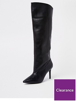 river-island-river-island-leather-knee-high-boots--black